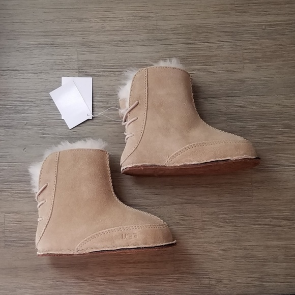 5617822a9f1 UGG Booties - Boo, Sand, Infant Toddler Size L 6-7 NWT